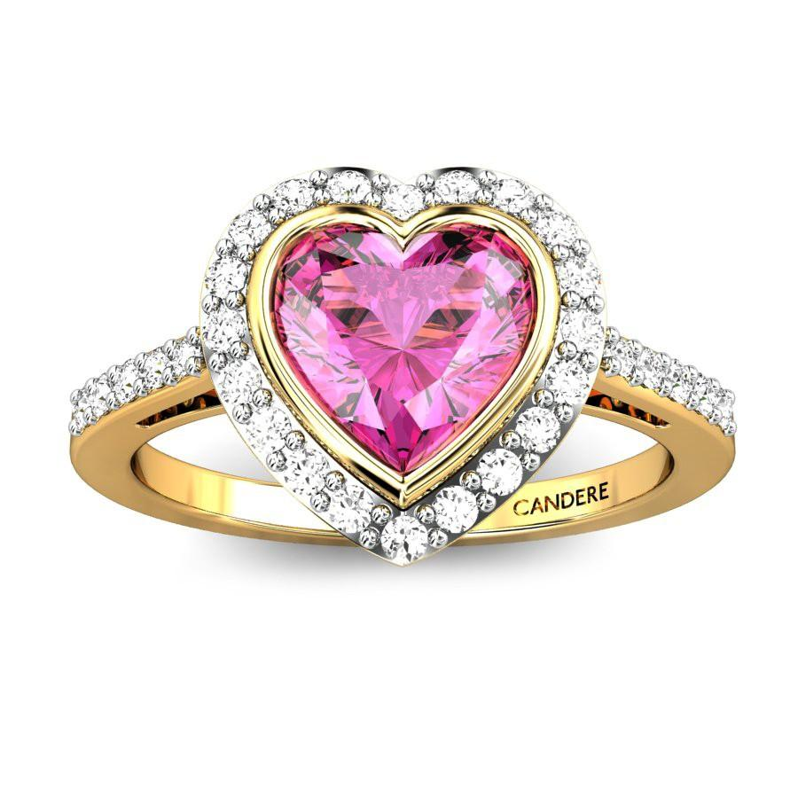 Asija Heart Pink Spinel Ring Online Jewellery Shopping India ...