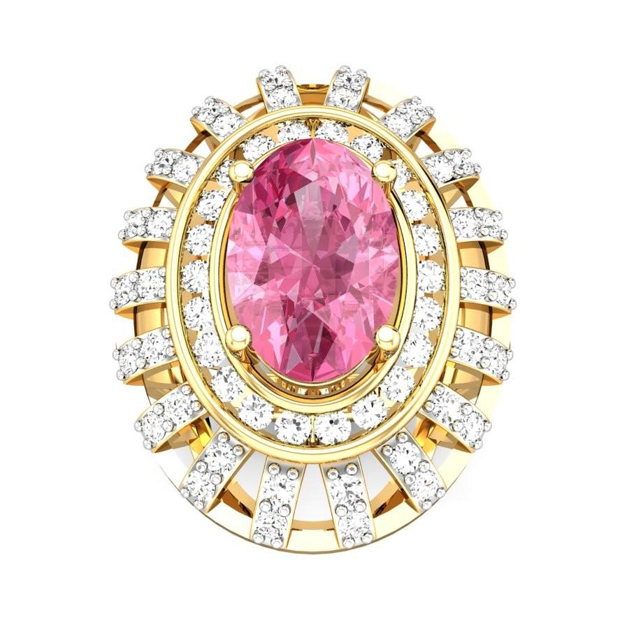 Gelsey Tourmaline Pink Ring Online Jewellery Shopping India | Yellow ...