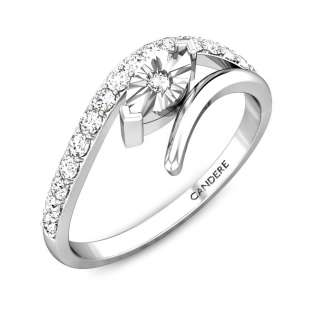 Brilliant Waves Miracle Plate Diamond Ring