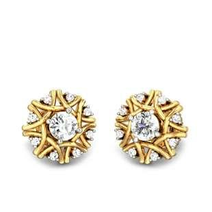 Erica Solitaire Diamond Earrings