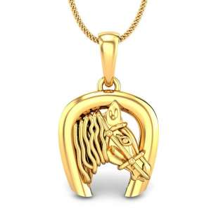 James Horse Shoe Gold Pendant