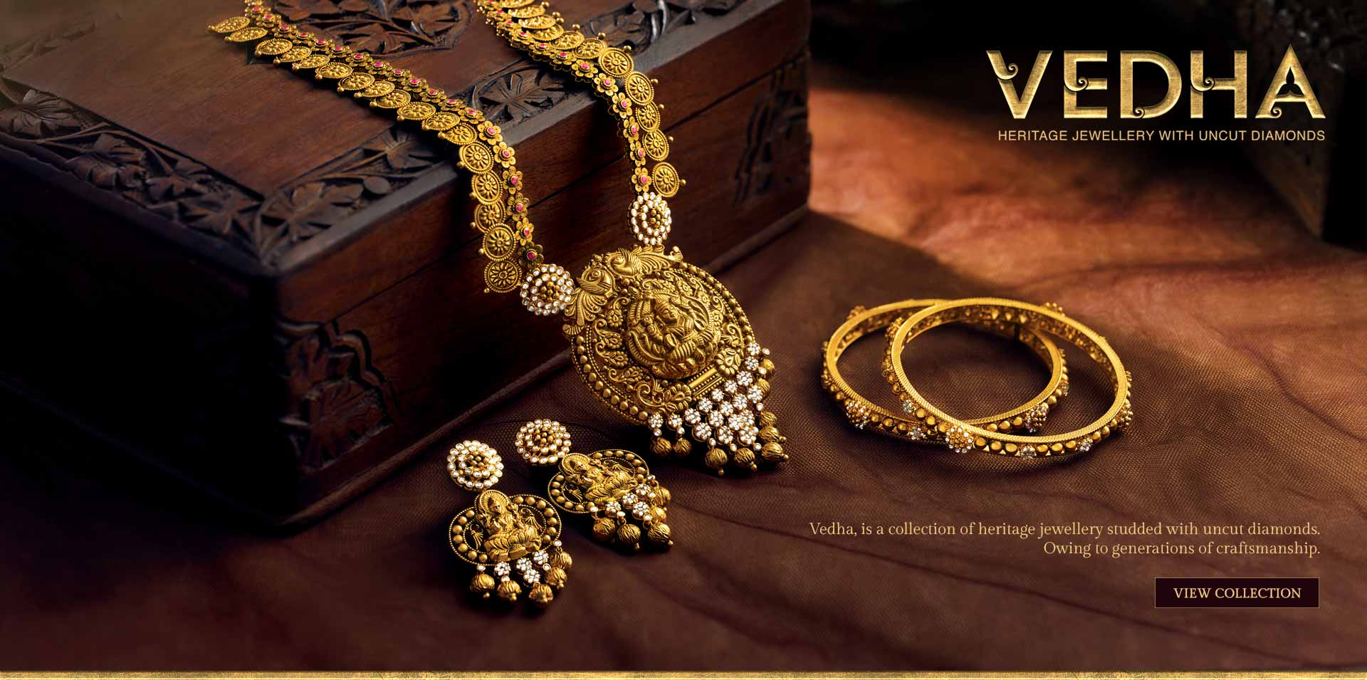 Vedha - Heritage Jewellery with Uncut Diamonds | Candere.com - A ...